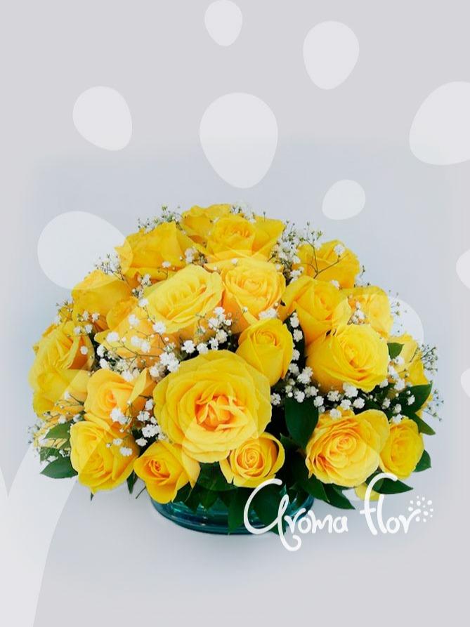 Topiario en rosas Amarillas
