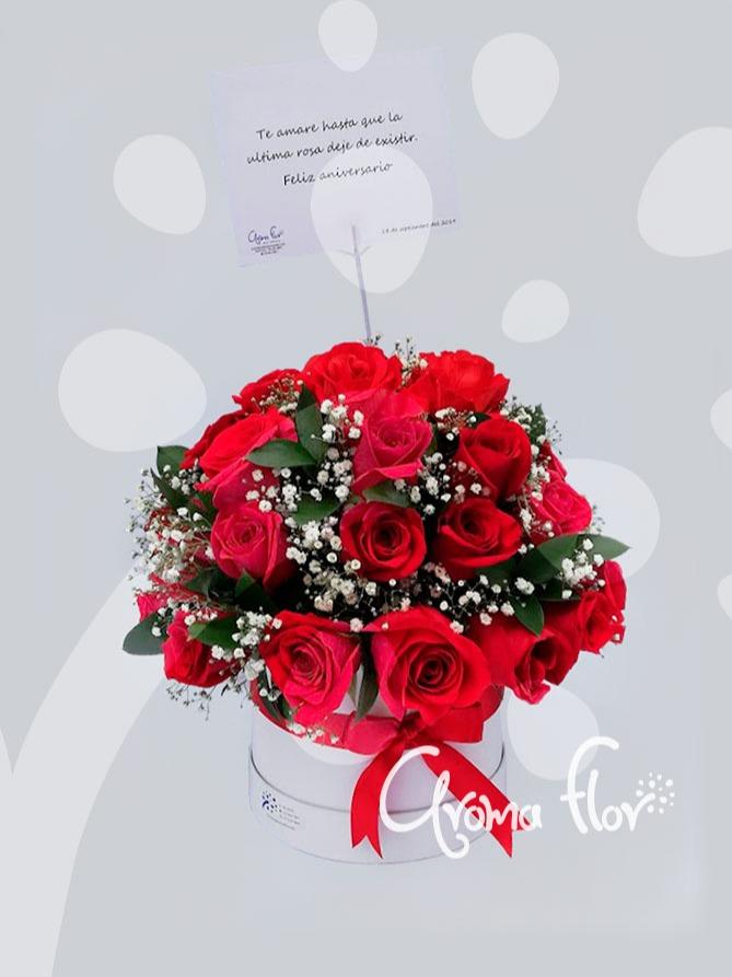 pensamiento en rosas rojas