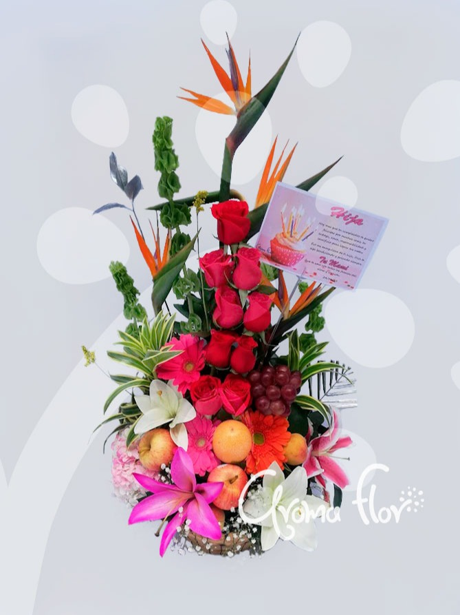 Amor frutas y flores