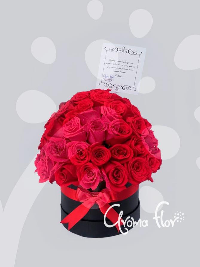 Topiario 60 rosas Rojas en caja
