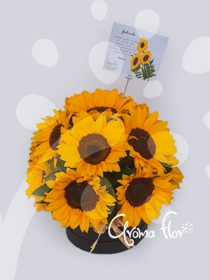 Topiario de girasoles