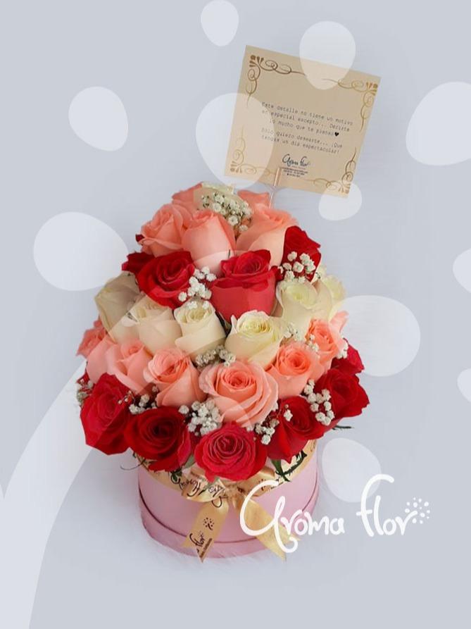 Espiral de rosas  En caja