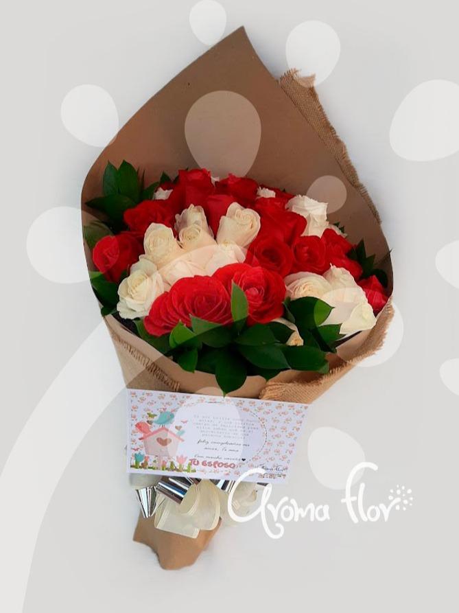 Bouquet  36 rosas surtidas