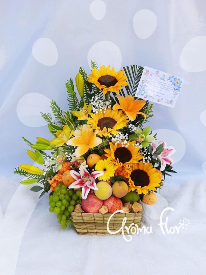 Canasta Frutas y flores