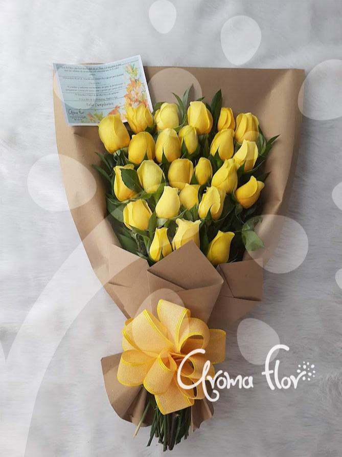 Manual 24 rosas amarillas