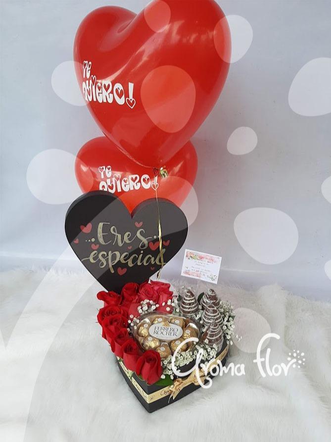 Caja de rosas mini amor