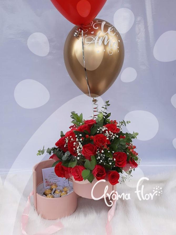 Baúl Rosas y chocolates
